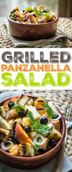 Grilled Panzanella Salad with Peaches