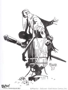 Baba Yaga illustration by Mike Mignola. Baba Yaga, Comic Book Artists, Comic Artist, Comic Books Art, Character Art, Character Design, Character Concept, Ink Illustrations, Illustration Art