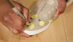 baf3fdbc3fff Pineapple-printed shoes are everywhere right now…and we know a super simple  way that you can make ...