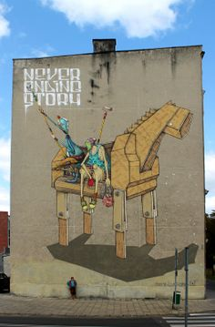 "walls by SEPE , ""Trojan Horse"" with Chazme ans Lump in Szczecin (Poland) 2011"