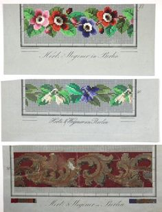 Berlin WoolWork Border Patterns Produced By Hertz & Wegener In Berlin