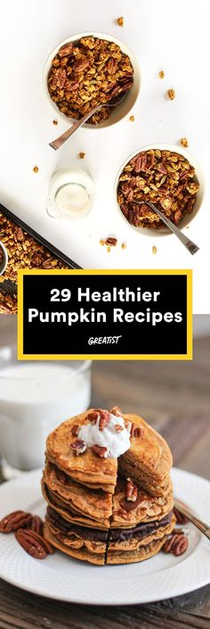 Pumpkin errrythang. #healthy #pumpkin #recipes ht…