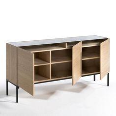 buffet bahut contemporain 4 portes 4 tiroirs ch ne blanchi lexiane salon pinterest. Black Bedroom Furniture Sets. Home Design Ideas