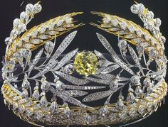 The Russian Field Diadem--originally created by the Duvall brothers of St. Petersburg for Empress Maria Feodorovna.