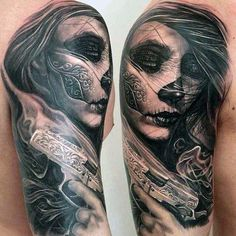 Tatoo designs and inspirations for men and women. Find the Best tattoo designs for Tattoo Girls, Girl Tattoos, Tattoos For Women, Tattoos For Guys, Great Tattoos, New Tattoos, Body Art Tattoos, Sleeve Tattoos, La Muerte Tattoo