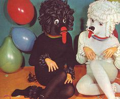 women in creepy poodle dog costumes vintage ads funny pictures Dog Tumblr, Weird And Wonderful, Vintage Halloween, Art Inspo, Clowns, Illustration, Funny Pictures, Artsy, Dog Costumes