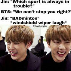 Please Jin Oppa! I feel like I need to sing the whole of 'Stop Stop It'! Best Dad Jokes, Jin Dad Jokes, Great Jokes, Best Puns, Bts Memes Hilarious, Silly Jokes, Funny Dad Jokes, Funny Pics, Funny Videos