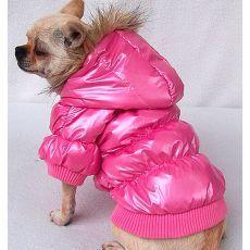 Vetrovka pre psa - pérová, ružová, XXL