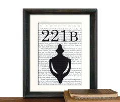 SHERLOCK Holmes Book Page 221B Baker Street by QuaintandCurious, $18.00