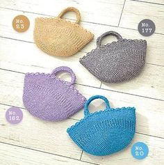 Hobbies And Crafts, Diy And Crafts, Straw Bag, Free Pattern, Knit Crochet, Knitting, Mini, Diagram, Basket