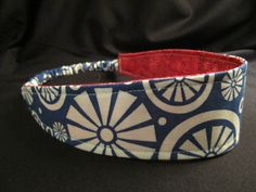 Reversible Headband  Blue/white/red  FREE SHIPPING by SewPortland, $9.00