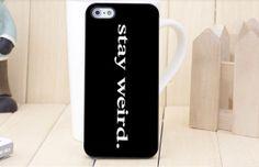 #Stay #Weird #Funny Abadi iP455S5S Samsung S2S3S4 by LanggengAbadi, $13.99
