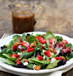 Strawberry Feta Salad with Balsamic Vinaigrette - Bunny's Warm Oven