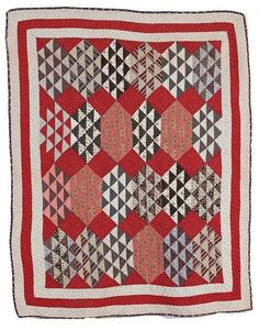 This scrappy little crib quilt was one I thought about doing as a quiltalong . Crib Quilts, Old Quilts, Small Quilts, Mini Quilts, Baby Quilts, Antique Crib, Antique Quilts, Vintage Quilts, Antique Dolls