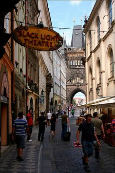 Approaching Charles Bridge, Prague, Czech Republic
