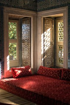 Topkapi Palace - A luxurious reading room, one of Calli's favorite spots in the Topkapi Palace in Istanbul, Turkey