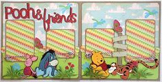 Lauren's Creative...: Pooh and Friends Layout - http://laurenscreative.blogspot.com/2011/03/pooh-and-friends-layout.html