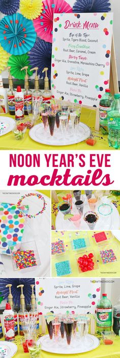 Mocktails for Kids' is a great way to ring in the New Year or any party. We added this fun Printable Kids' Mocktail Menu to our Noon Year's Eve Party that we threw our kids and it was a hit. via ilustrations Printable Kids' Mocktail Menu Kids New Years Eve, New Years Eve Food, New Years Eve Party, Food Games For Kids, Kids Party Games, Diy Games, Kids Birthday Crafts, Mocktails For Kids, New Year's Eve Crafts