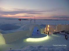 Central Asian Living: Kemi Snow Castle Snow Castle, Pretty Little, Finland, Seaside, Asian, Outdoor Decor, Beach, Coast