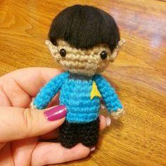 Wee Lil Kawaii Spock Star Trek Amigurumi by Spudsstitches.deviantart.com on @DeviantArt