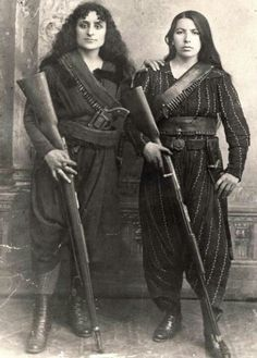 Amazons of the Caucuses, 1895. Western Armenia.  More Amazonian inspiration for modern warrior women!