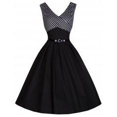 Valerie Black Polka Swing Dress | Vintage Inspired Dresses - Lindy Bop