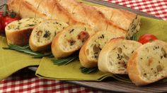 Roast Garlic Stuffing-Style Baguette