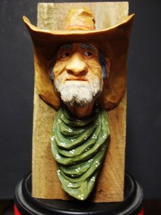 cowboy by WoodcarvingByMike on Etsy, $95.00