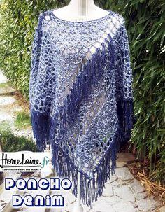Création d'un modèle de poncho au CROCHET en utilisant de la laine petit prix de chez Zeeman.  J'ai choisi la laine