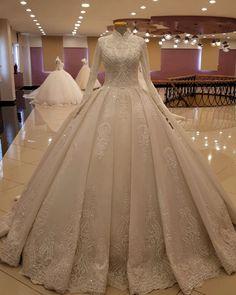 ✔ Dress Wedding Hijab White Lace ✔ Dress Wedding Hijab White L Muslimah Wedding Dress, Hijab Wedding Dresses, Wedding Gowns, Bridesmaid Dresses, Hijab Bride, Wedding Cakes, Buy Dress, Lace Dress, White Dress