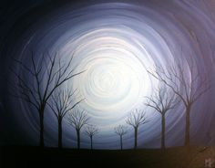 Original Whimsical Acrylic Painting Stillness   by MichaelHProsper, $45.00