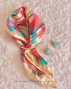 "Joanna Asimenos on Instagram: ""Jazzy silk scarf finished. Hand painted on light yellow silk. A frenzy of colors.  #silk #silkscarf #handmade #hanpainted #silkfabric…"" Silk Fabric, Abstract Art, Textiles, Hand Painted, Yellow, Colors, Handmade, Inspiration, Instagram"