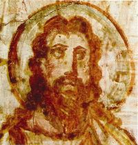 One of the oldest known images of Jesus, found in the Rome Catacombs - dated to 375 A. Paintings Of Christ, Jesus Painting, Old Paintings, Mural Painting, Christian Mysticism, Christian Symbols, Catholic Art, Religious Art, Catholic Theology