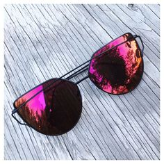 >>>Ray Ban Sunglasses OFF! This listing is for a pair of Cat Eye aviator sunshades. Cute Sunglasses, Trending Sunglasses, Ray Ban Sunglasses, Cat Eye Sunglasses, Mirrored Sunglasses, Sunglasses Women, Sunnies, Cat Eye Colors, Lunette Style