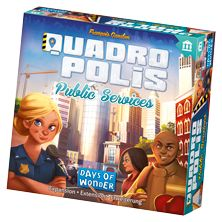 Prepare to face new challenges with Quadropolis: Public Services!  With the Public Services Expansion, you will add all new Public Service Buildings to your Quadropolis game. Will you build a Police Station to protect your citizens? Or a Maternity Ward to increase population? On the other hand, maybe a reprocessing plant would be a good investment to decrease pollution…  Public Services is expected to be released in Europe in April and in North America in June, for a retail price of 13€/15$.