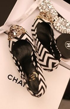 Chanel shoes. These Chanel flats are perfect for the holiday...edgy, elegant and chic.
