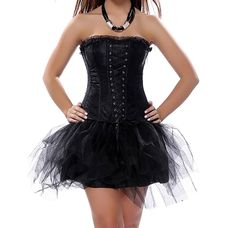 Grebrafan Womens Corset Fashion Gothic Boned Retro Corset Bustier Skirt ** Check out this great image : Plus size lingerie Plus Size Lingerie, Corset, Looks Great, Lace Up, Retro, Formal Dresses, Skirts, Gothic, Clothes
