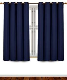 Utopia Bedding Blackout Room Darkening and Thermal Insulating Window Curtains/Panels/Drapes - 2 Panels Set - 8 Grommets per Panel - 2 Tie Backs Included (Navy, 52 x 63 Inches with Grommets) Kids Curtains, Cool Curtains, Blue Curtains, Room Darkening Curtains, Curtains For Sale, Blackout Curtains, Window Curtains, Modern Curtains, Bedroom Curtains