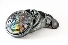 Shape - Herb Grinder - Glowfish - Prizmatic - Colorful - Gypsy - Hippie - Spiritual  https://www.etsy.com/listing/463791600/herb-grinder-glowfish-25-custom-grinder?ref=shop_home_active_2