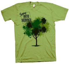 "Shirt Kong: #Lindenwood University Campus YMCA ""springs"" into service! Pay it forward. #screenprinting #tshirt"