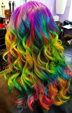 Sandart Hair <3 Pravana Vivids <3 Unicorn Hair <3