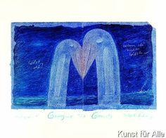 Peter-T Schulz - Storchenliebe/Blau (Perlmutt)