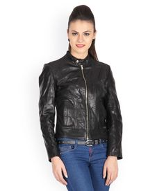 Justanned Black Leather Jacket Biker Couple, Leather Jackets Online, Black Leather, Fashion, Moda, La Mode, Fasion, Fashion Models, Trendy Fashion