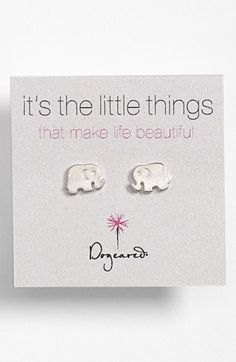 cute elephant stud earrings  http://rstyle.me/n/d75vcpdpe