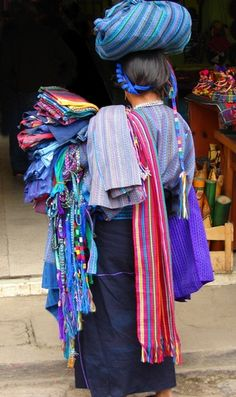 Mayan Woman at Market ~ From the Guatemala Photo Gallery on the Fans del Espanol site.  Photographer J Loveland