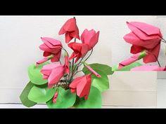 折り紙の花・鉢花の女王シクラメンOrigami flower art / cyclamen ~折り方解説付きFantasia - YouTube