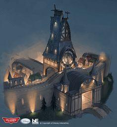 Environment Concept, Environment Design, Fantasy World, Fantasy Art, Awesome Art, Cool Art, Cartoon House, Building Concept, House Sketch