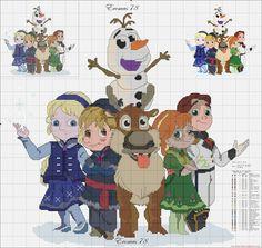 Frozen Cross Stitch Patterns | per non perdere neppure uno schema metti mi piace su facebook!