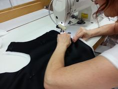 Sewing our down jacket Proudly Made in Italy