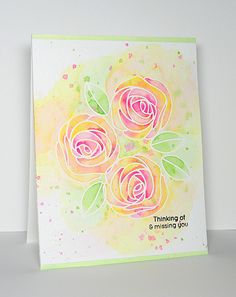 Watercolor Roses | I love playing with watercolors! These ro… | Flickr
